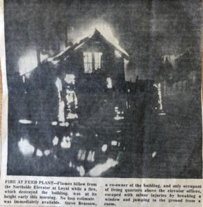 Fire destroys the feedmill